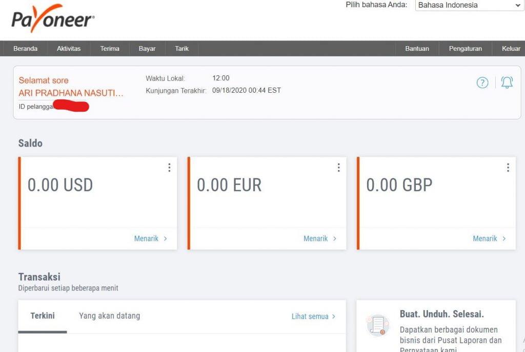 Cara Membuat Akun Payoneer Untuk Transaksi Internasional Mikrotekno