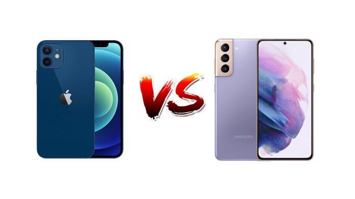 iphone 12 vs samsung galaxy s21,ihone,samsung,iphone vs samsung, s21 vs iphone 12, apple