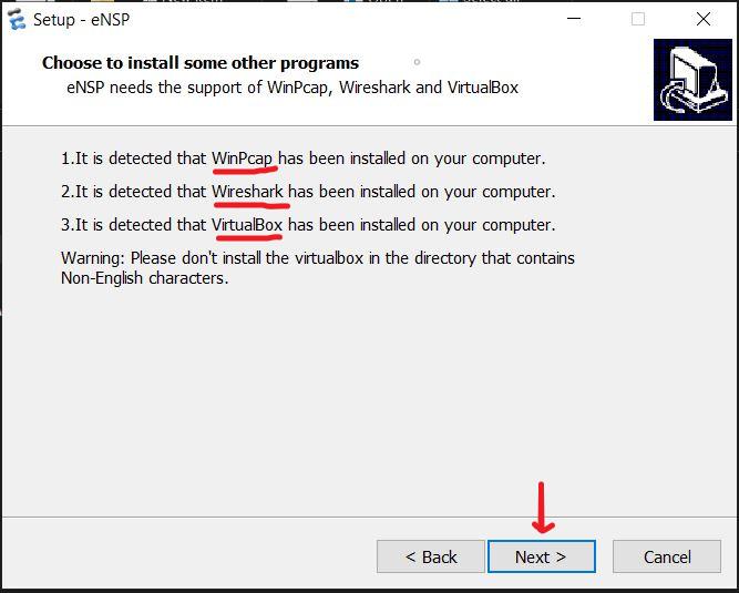 Install Huawei eNSP